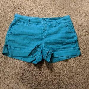 Anthropologie Level 99 Turquoise Shorts